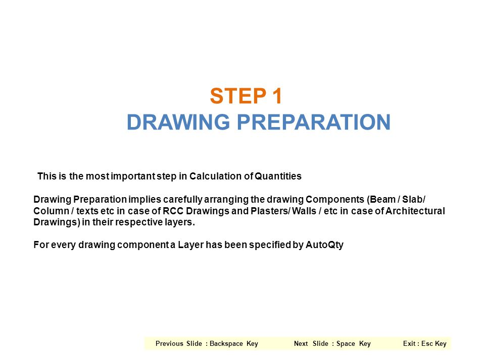 STEP 1 DRAWING PREPARATION