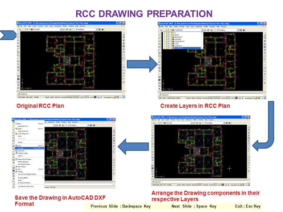 RCC DRAWING PREPARATION