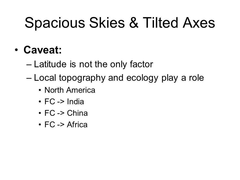 """Spacious Skies & Tilted Axes …"""" - ppt download"""