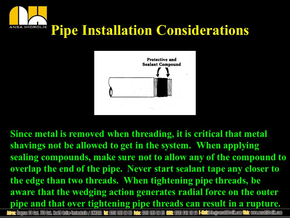 Pipe Installation Considerations