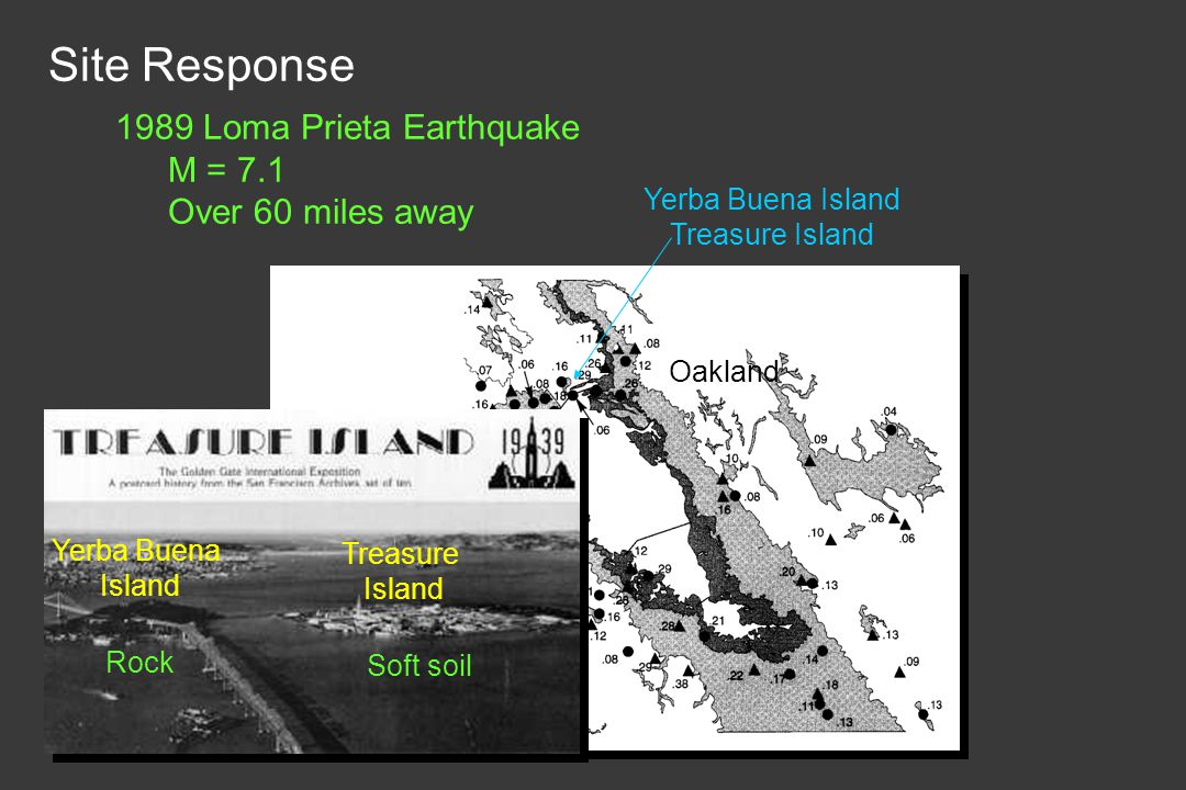 Site Response 1989 Loma Prieta Earthquake M = 7.1 Over 60 miles away