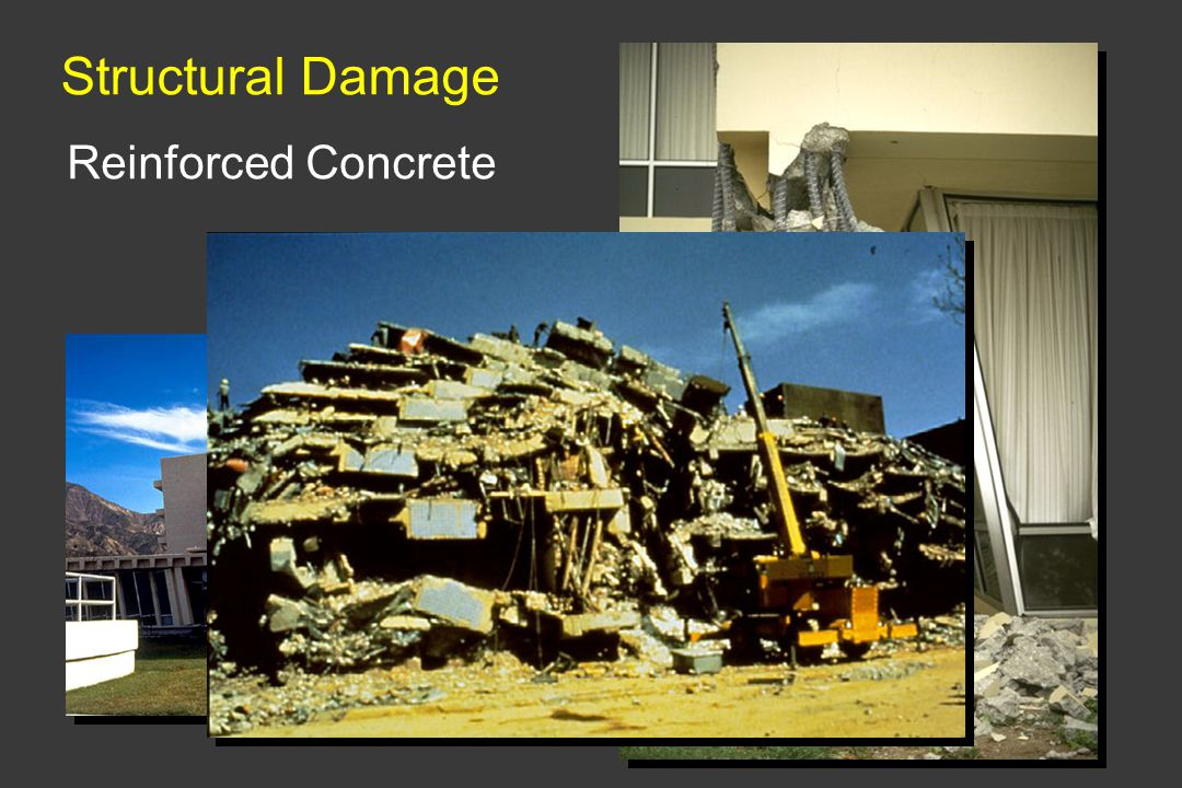 Structural Damage Reinforced Concrete Insufficient confinement