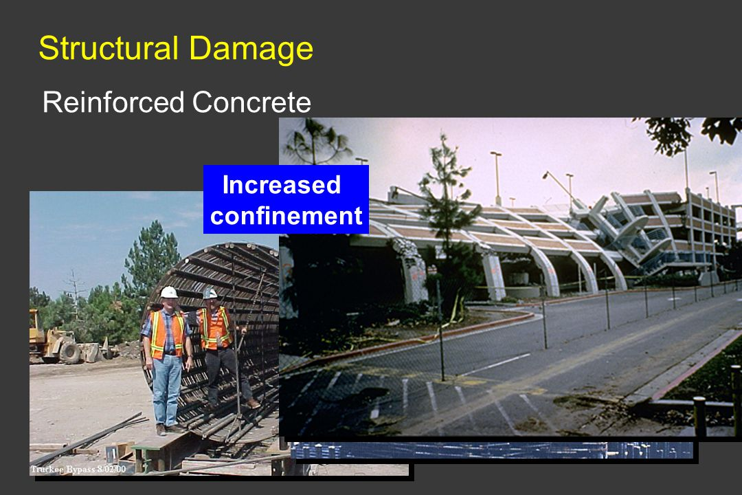 Structural Damage Reinforced Concrete Increased confinement