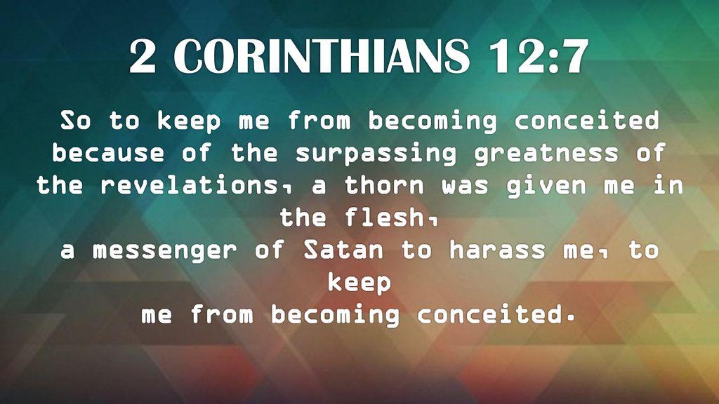 2 Corinthians 12 7 9