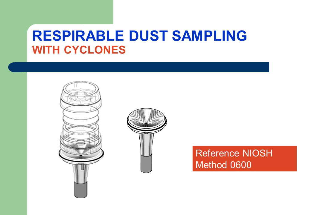 RESPIRABLE DUST SAMPLING WITH CYCLONES
