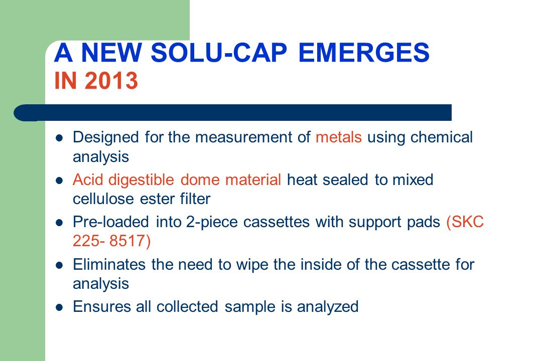 A NEW SOLU-CAP EMERGES IN 2013