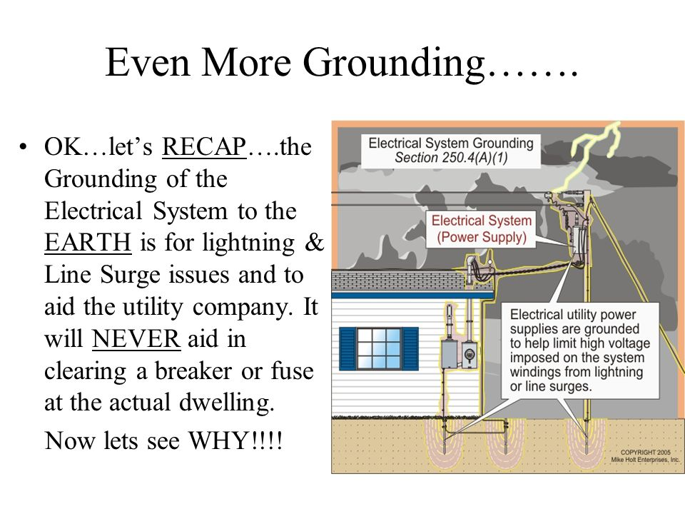 Even More Grounding…….