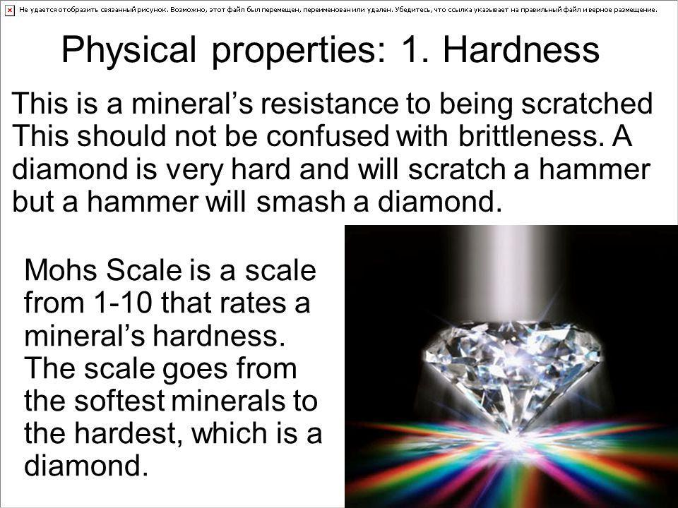 Physical properties: 1. Hardness