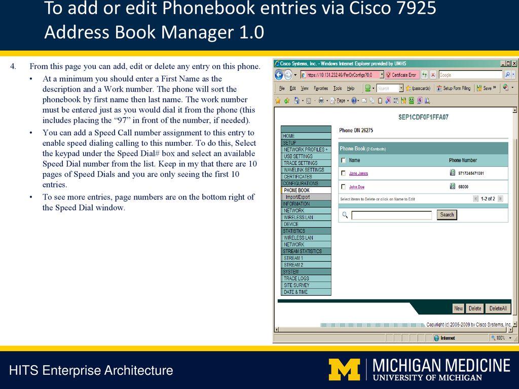 Cisco 7925 Phonebook Userguide - ppt download
