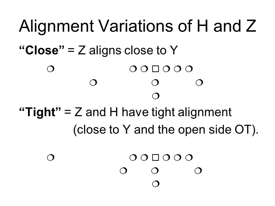 Alignment Variations of H and Z