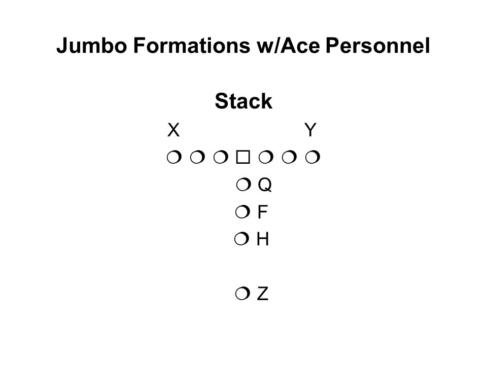 Jumbo Formations w/Ace Personnel