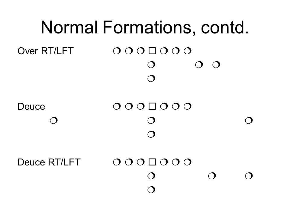 Normal Formations, contd.