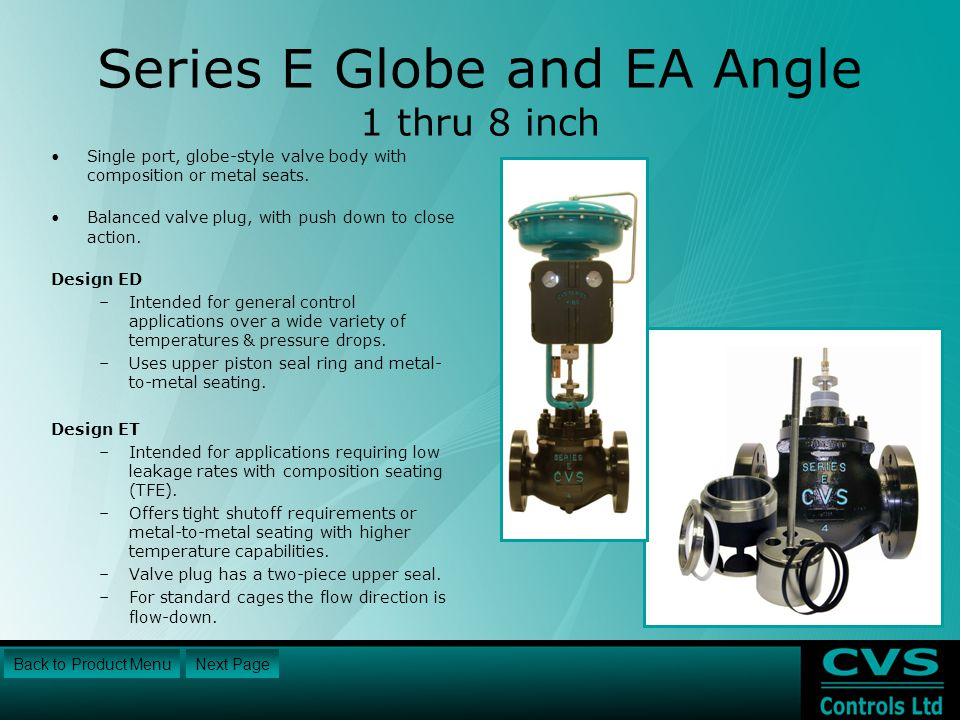 Series E Globe and EA Angle 1 thru 8 inch