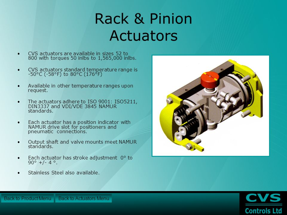 Rack & Pinion Actuators