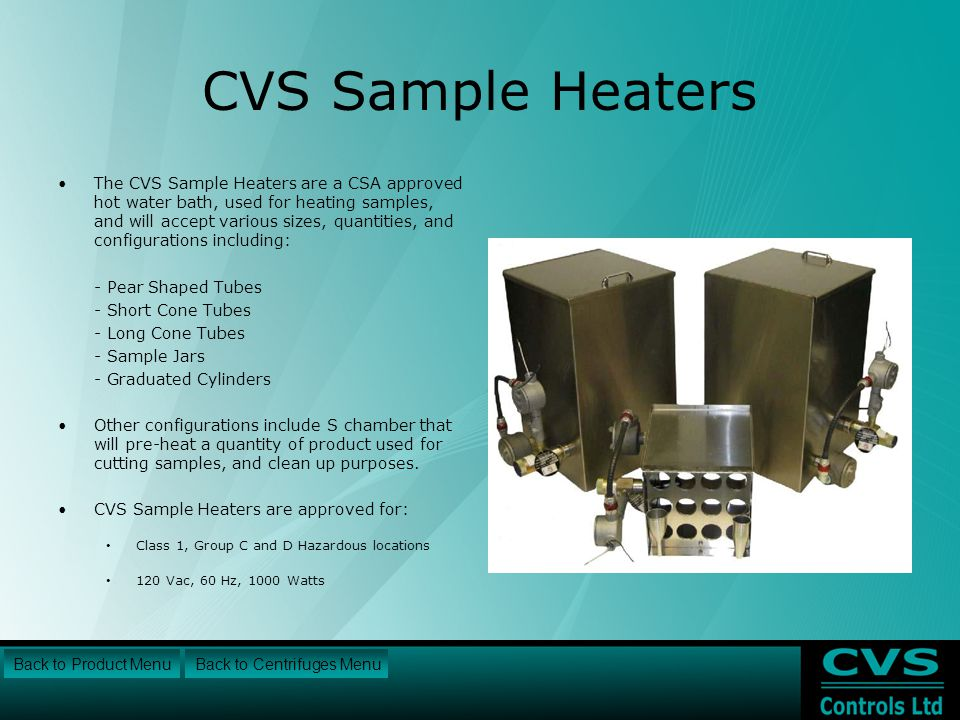 CVS Sample Heaters