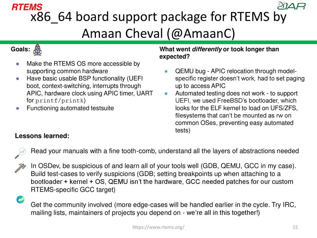 RTEMS Status and Roadmap - ppt download