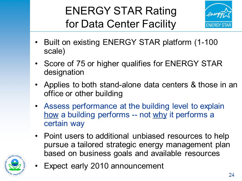 ENERGY STAR Rating for Data Center Facility