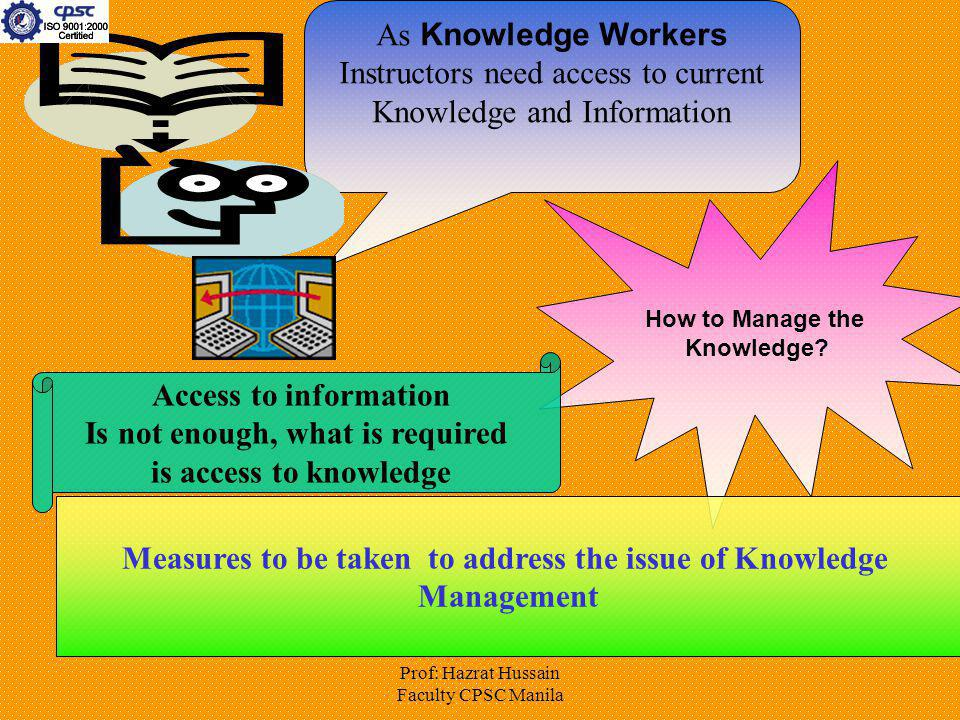 Is not enough, what is required is access to knowledge