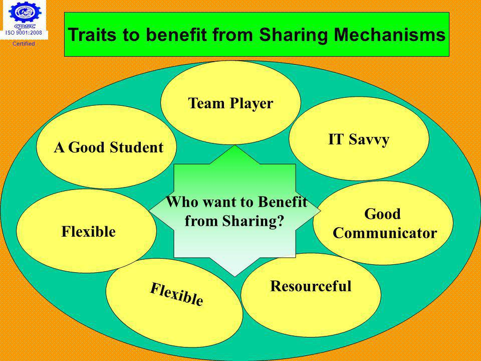 Traits to benefit from Sharing Mechanisms