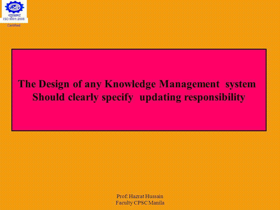 The Design of any Knowledge Management system