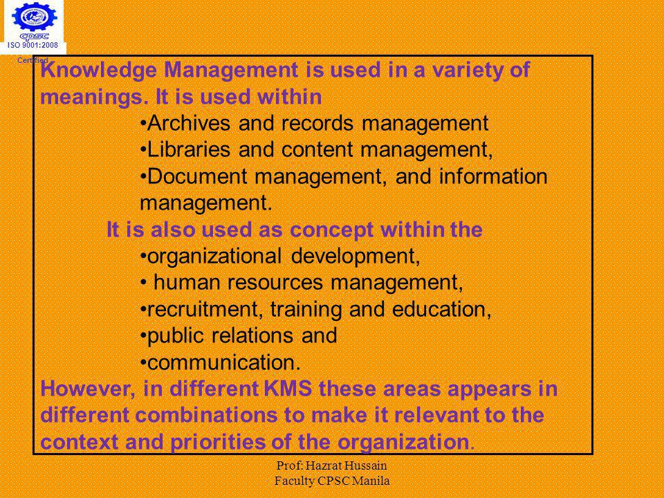 Archives and records management Libraries and content management,