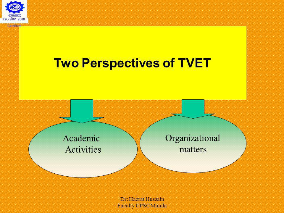 Two Perspectives of TVET