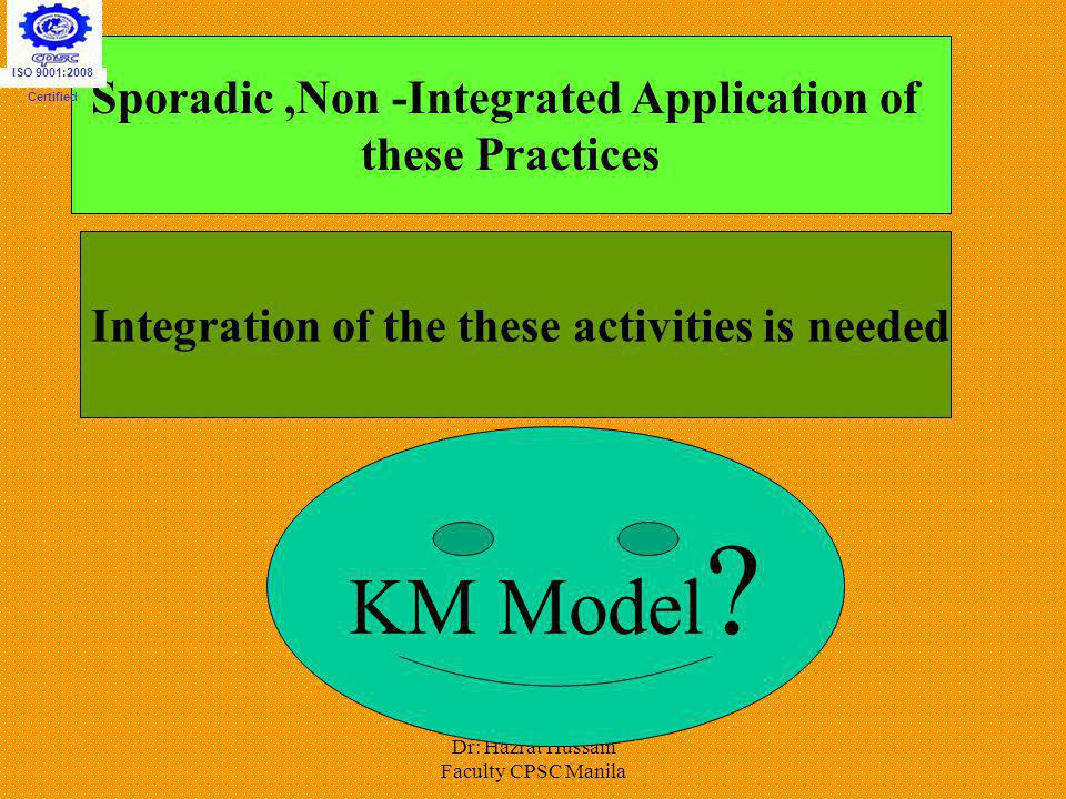 Sporadic ,Non -Integrated Application of