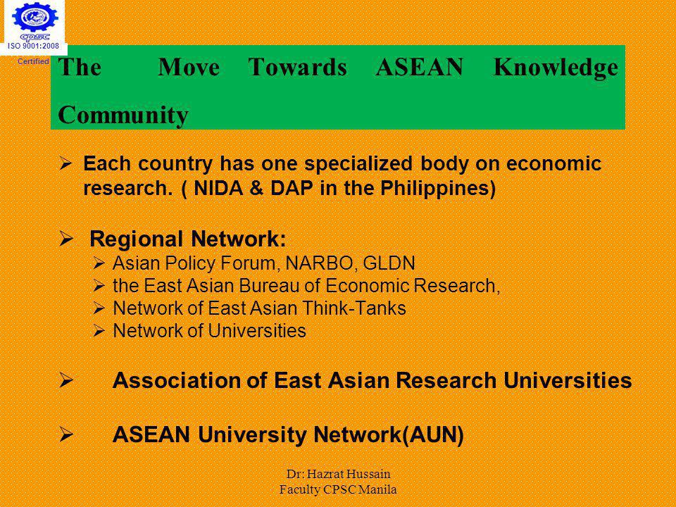 The Move Towards ASEAN Knowledge Community