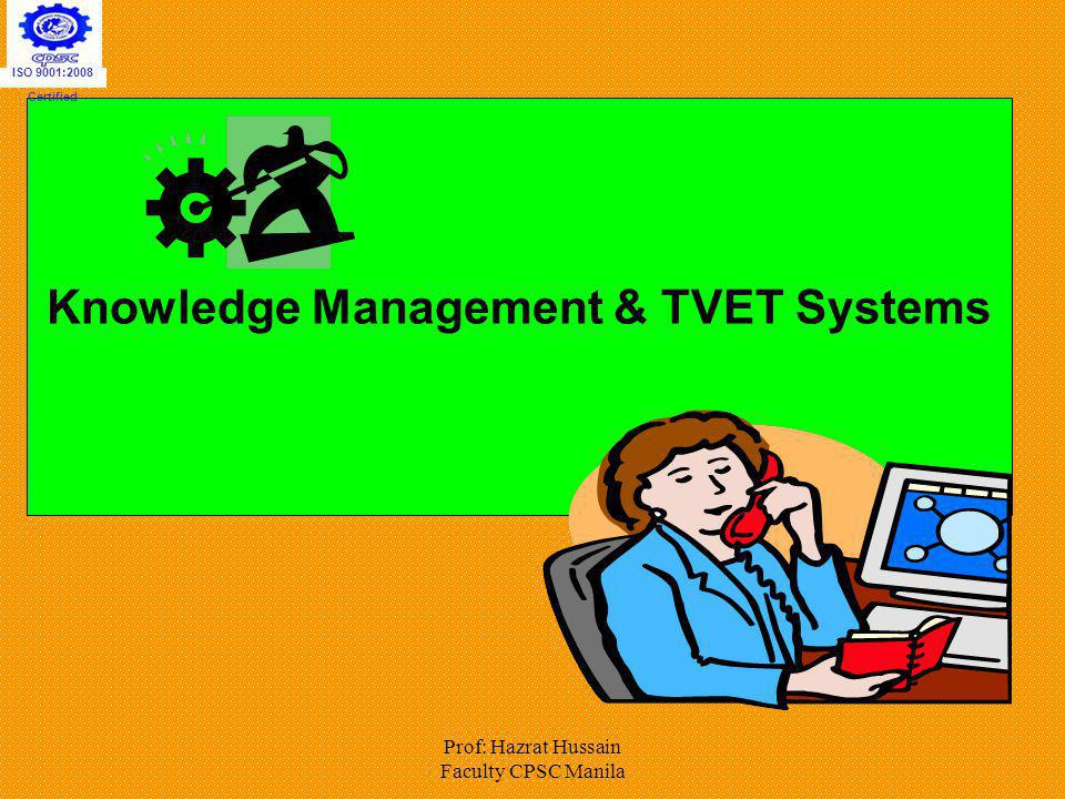Knowledge Management & TVET Systems