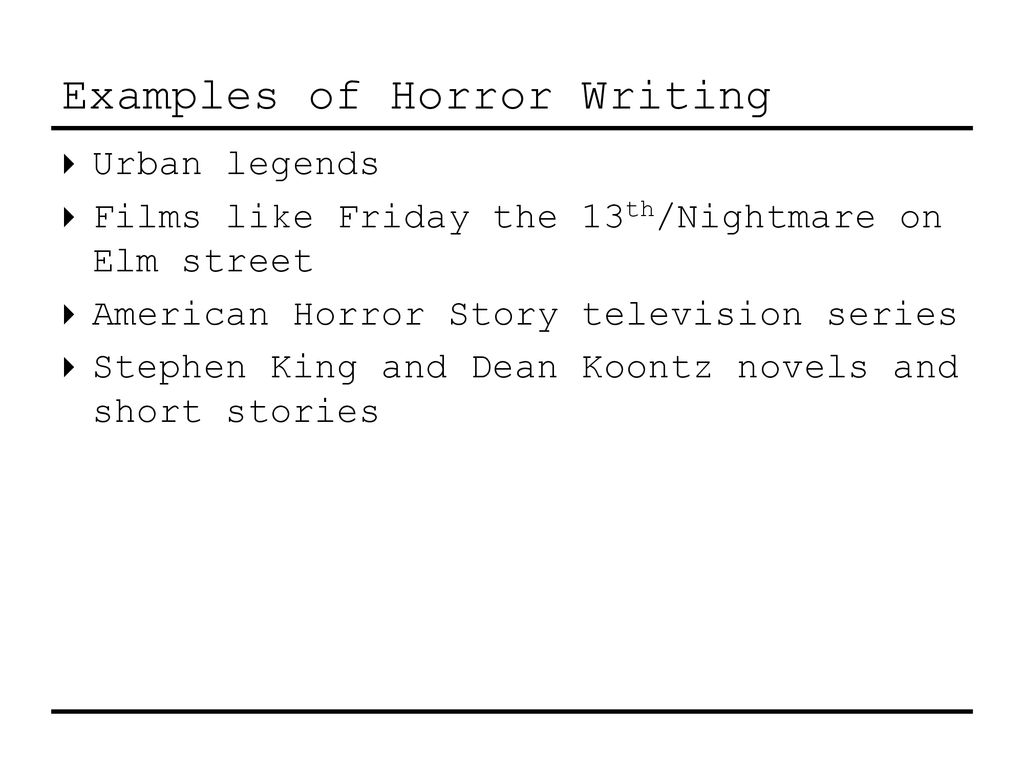 Introduction to Gothic and Horror Writing - ppt download