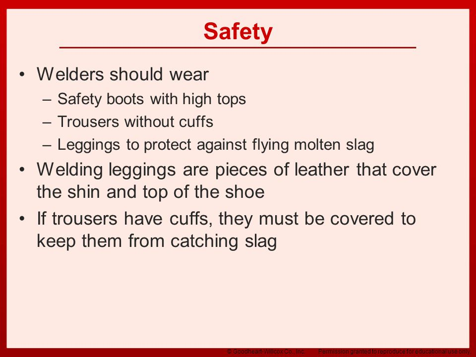 Safety Welders should wear