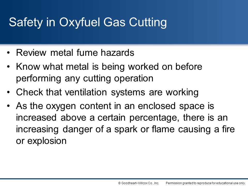 Safety in Oxyfuel Gas Cutting
