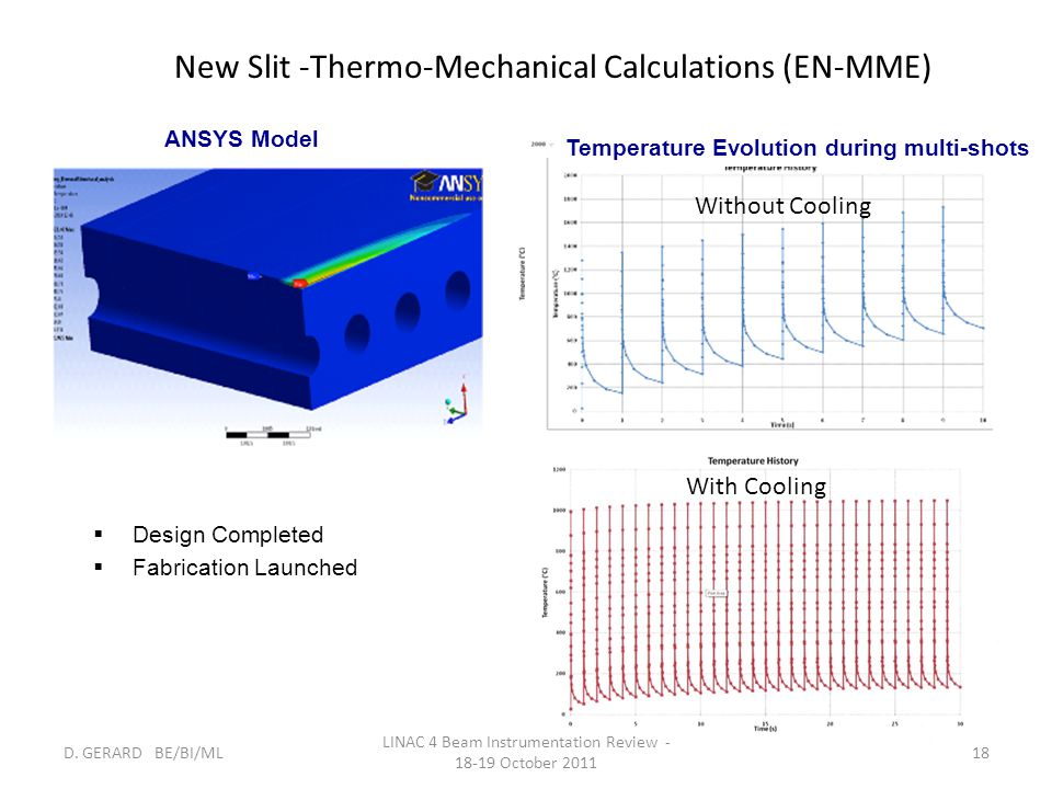 New Slit -Thermo-Mechanical Calculations (EN-MME)