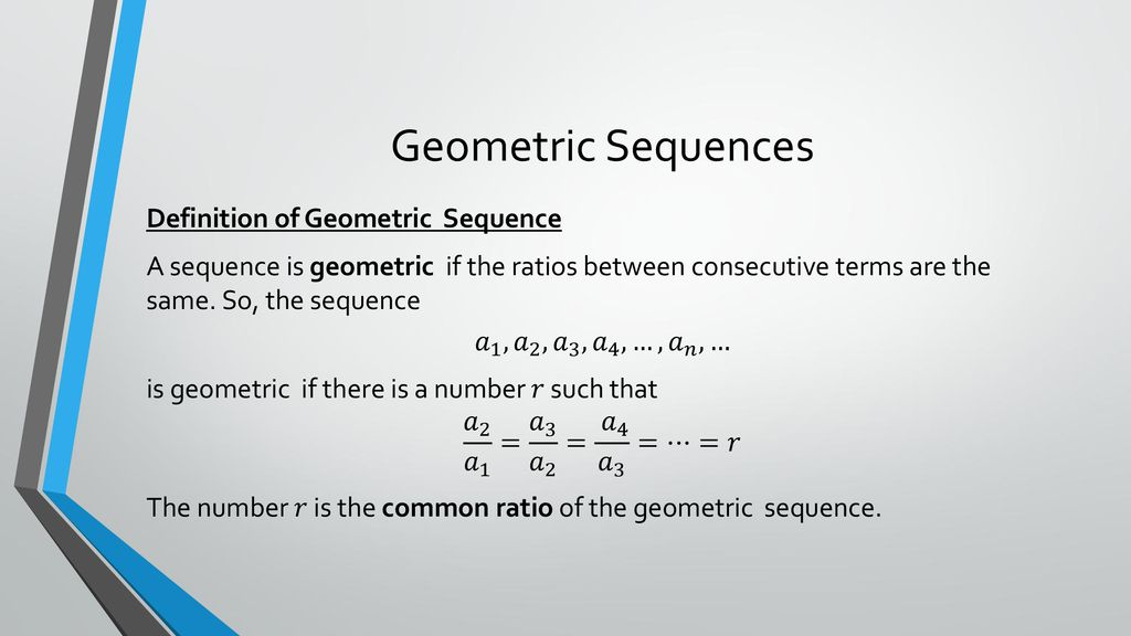 Geometric Sequences and Series - ppt download