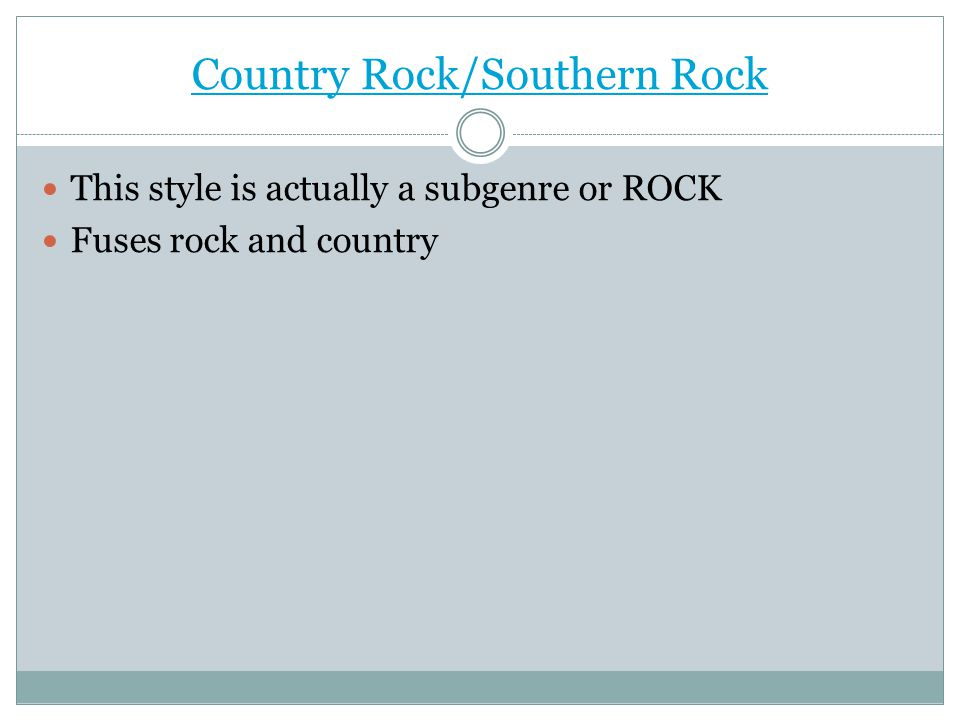 Country Rock/Southern Rock