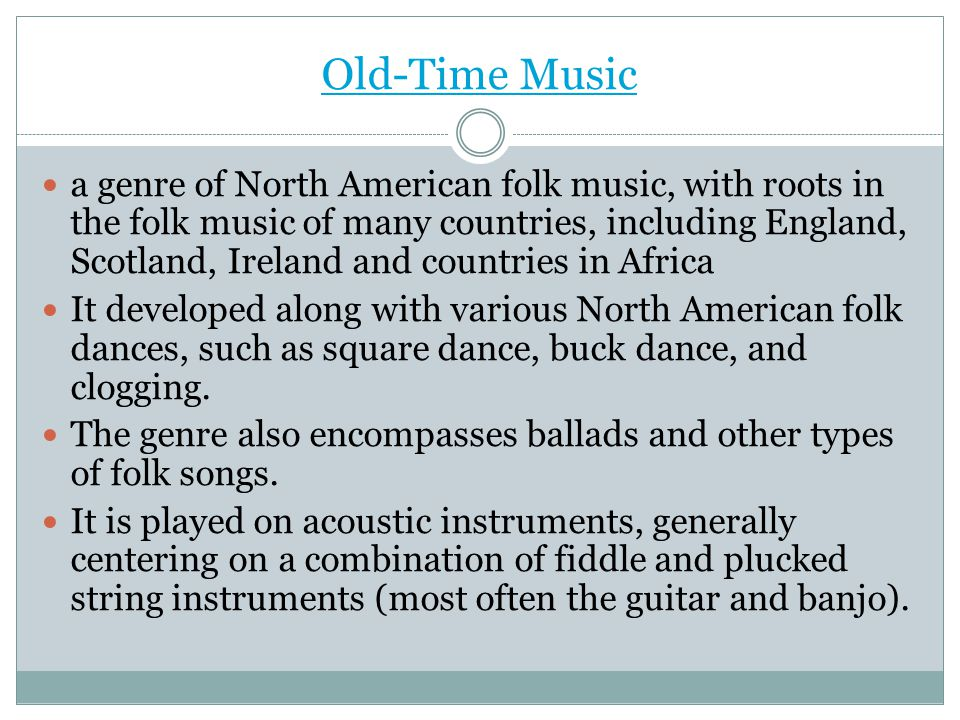 Old-Time Music