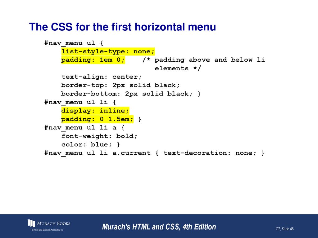 How to work with lists, links, and navigation menus - ppt download