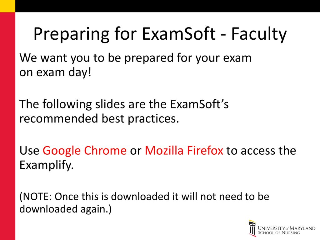 Preparing for ExamSoft - Faculty - ppt download
