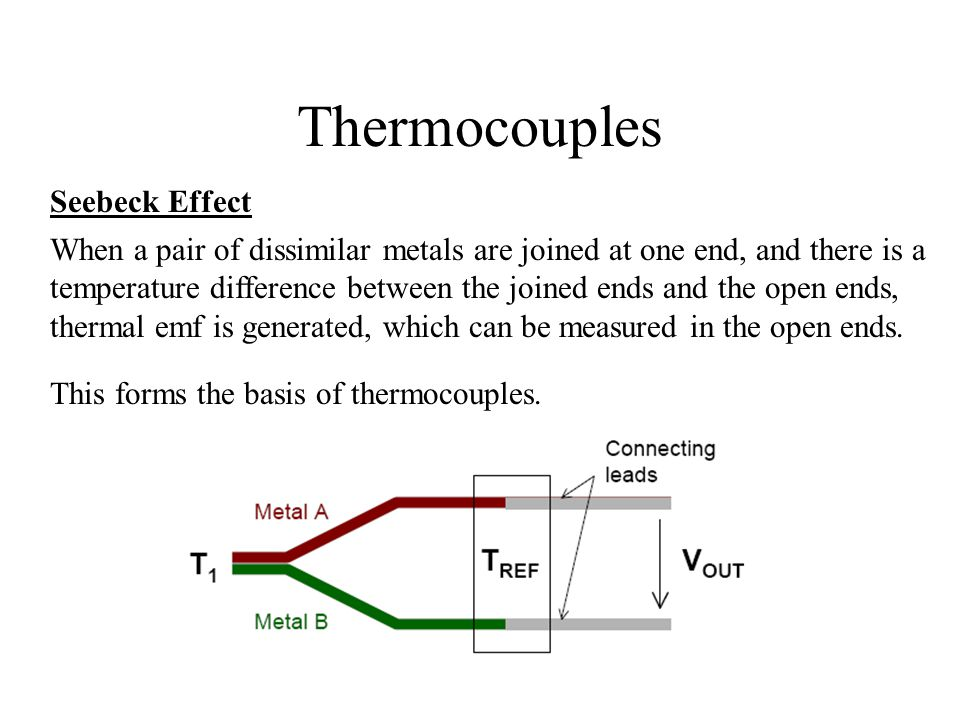 Thermocouples Seebeck Effect
