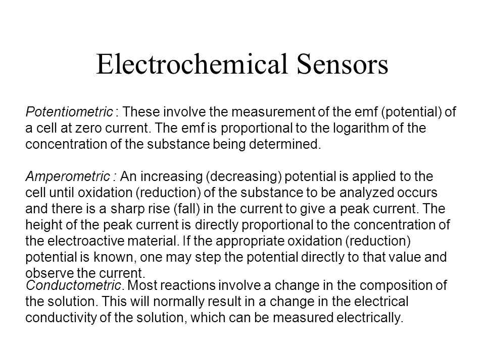 Electrochemical Sensors