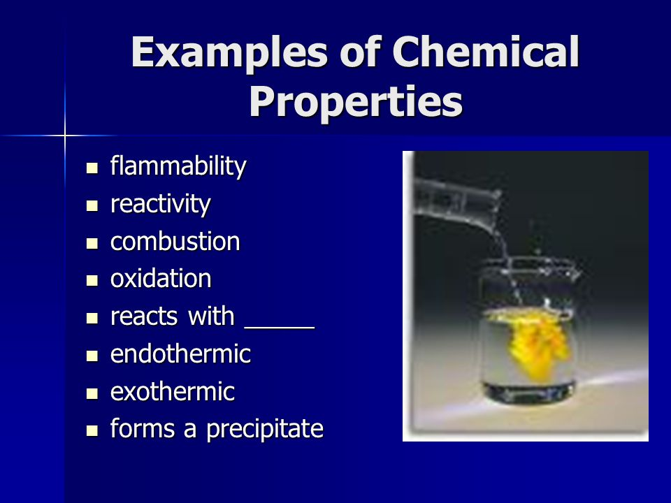 Two Properties Of Physical Change