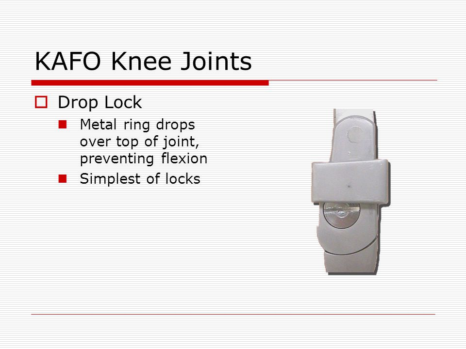 KAFO Knee Joints Drop Lock
