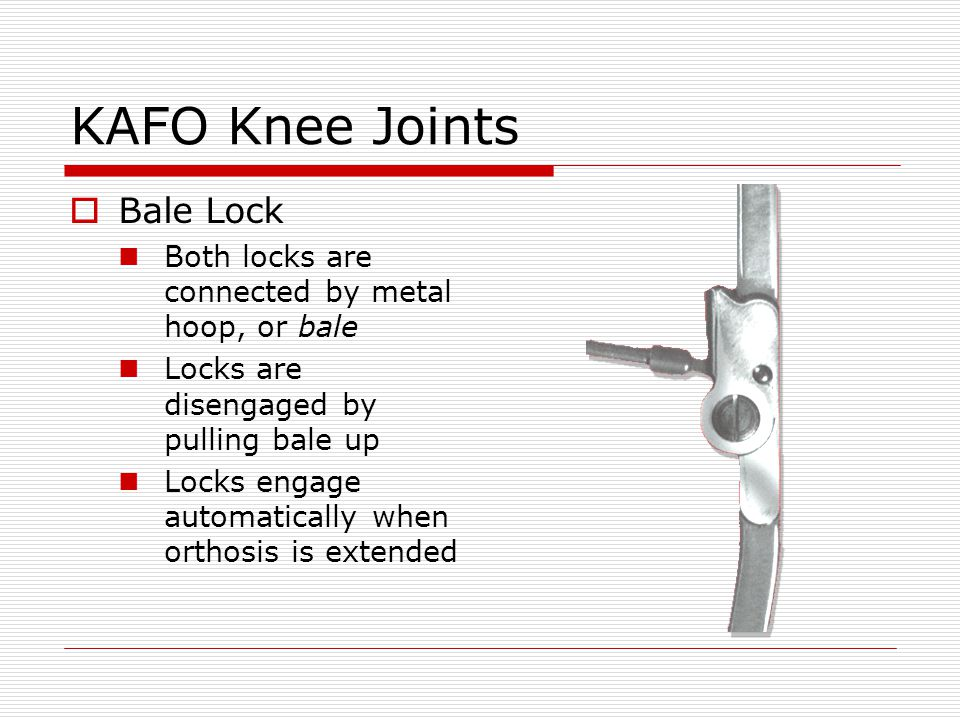 KAFO Knee Joints Bale Lock