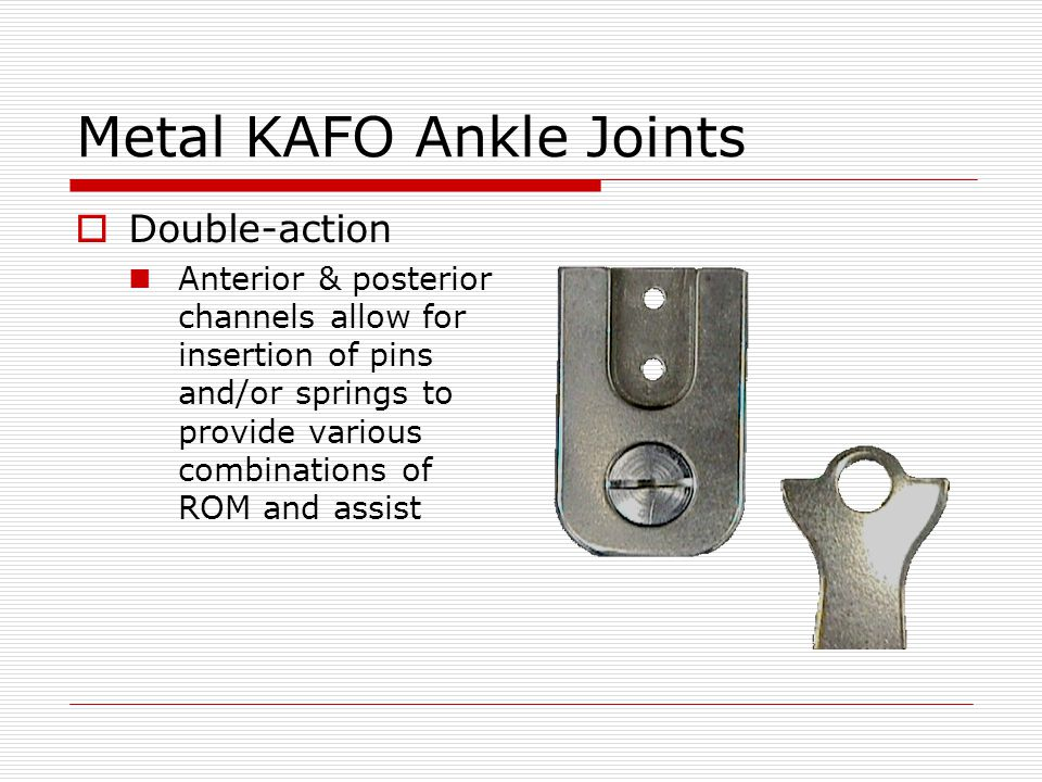 Metal KAFO Ankle Joints