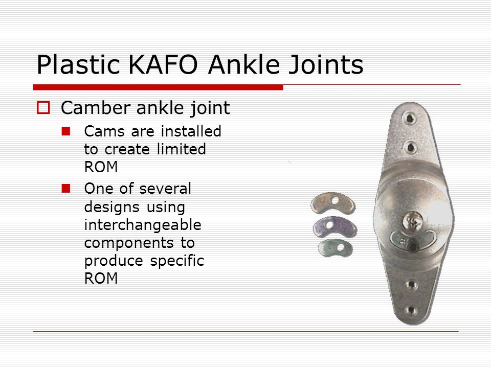 Plastic KAFO Ankle Joints