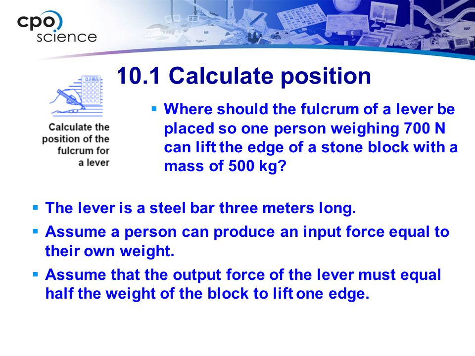 10.1 Calculate position