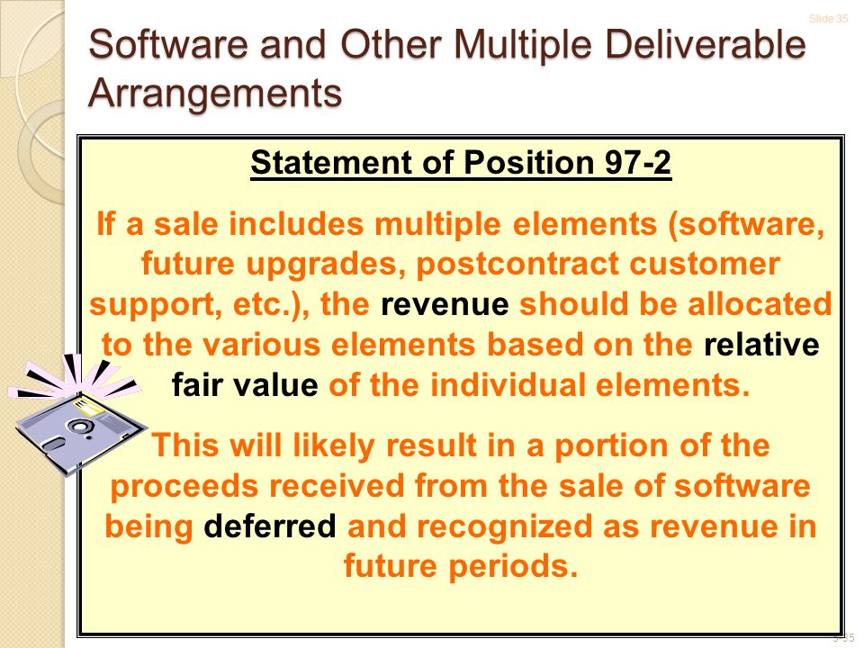 Software and Other Multiple Deliverable Arrangements