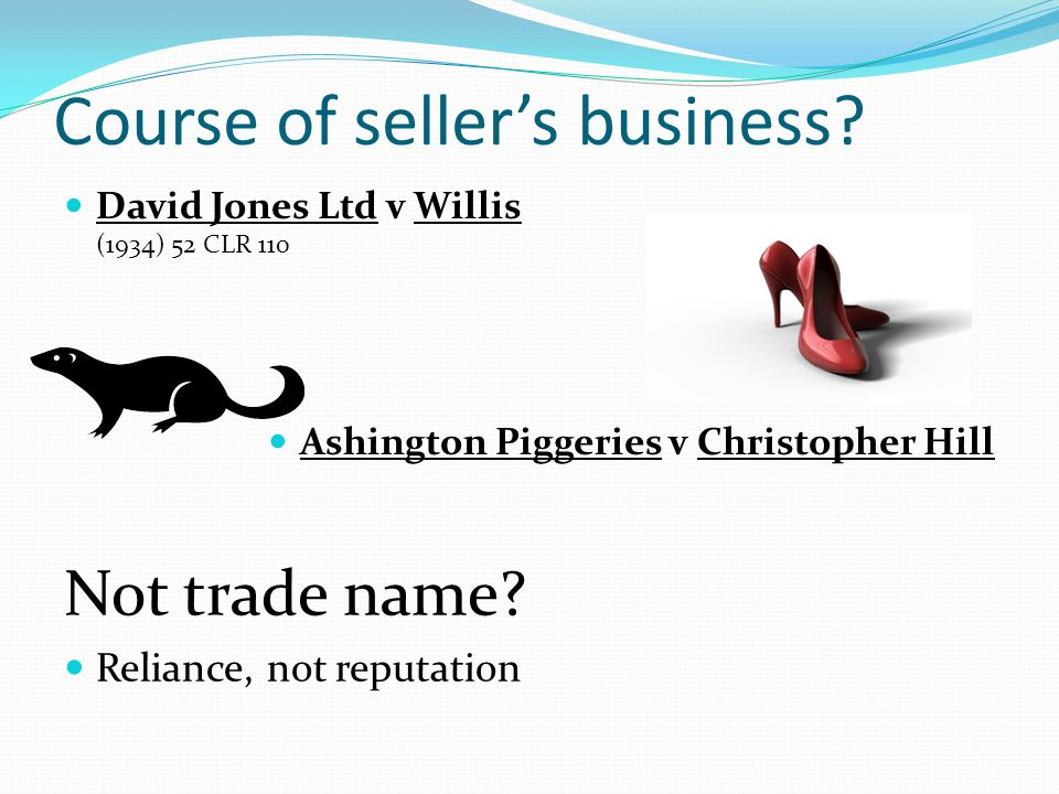 Course of seller's business