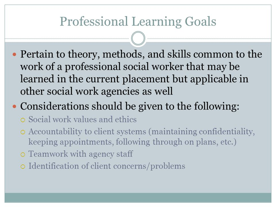 Professional Learning Goals