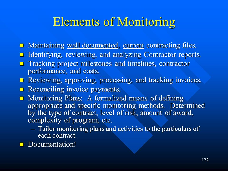 Elements of Monitoring